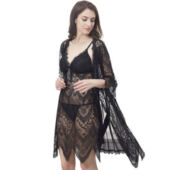 Open Women Transparent Lace Dress Teddy Ladies Very Sexy Hot Lingeries-3027