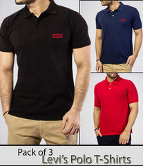 Basic By Behtreen - Men's Pack Of 3 Polo Shirts. AJ-L3