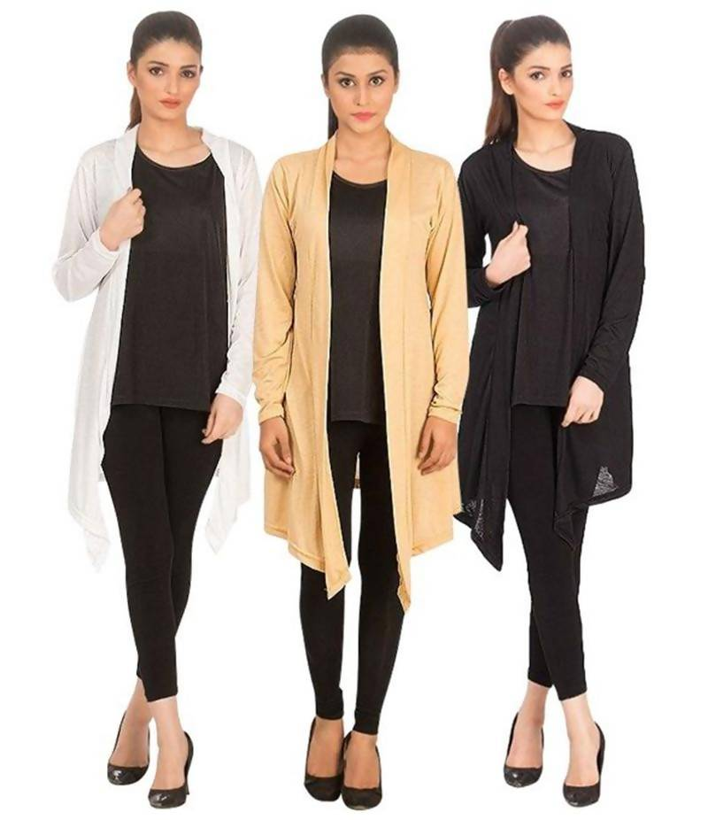 Women's Pack Of 3 Cotton Jersey Shrugs. NS-P3S2