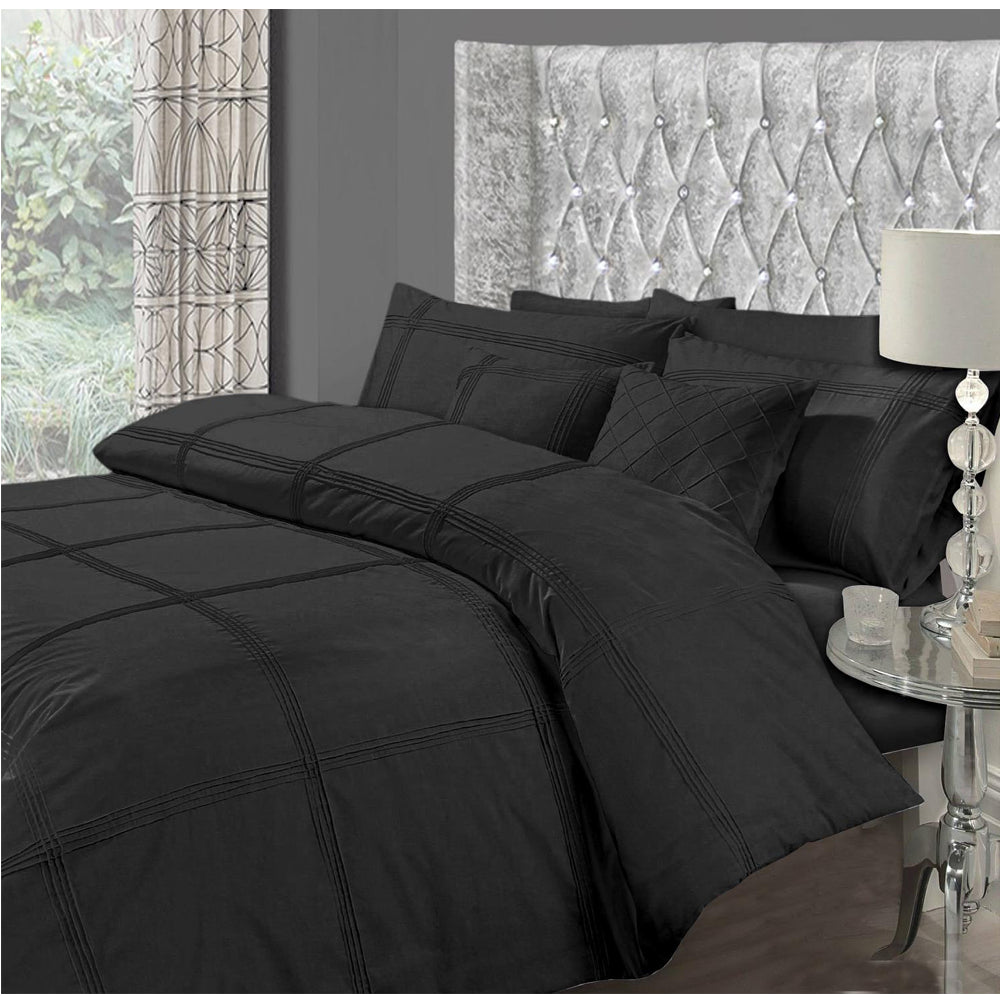 Elegant 8 PCS Pleated Polycotton Embllished Fancy Quilt Cover Set