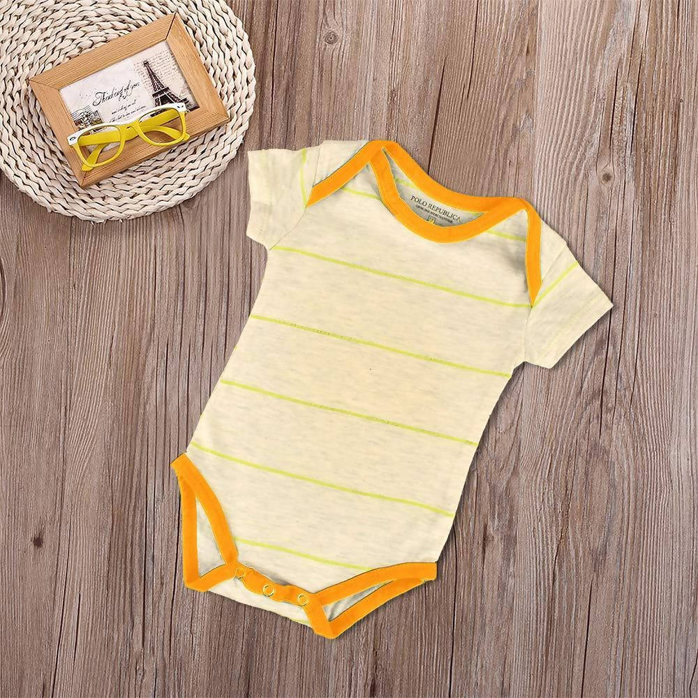 Polo Republica Takian Dyed Yarn Baby Romper