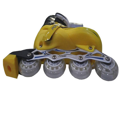 Inline Skate Shoes with Tyre LED lights - Yellow - 8438-A