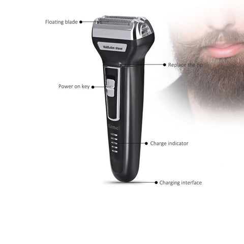 Electric Trimmer Travel Rechargeable Use Razor KM-6557