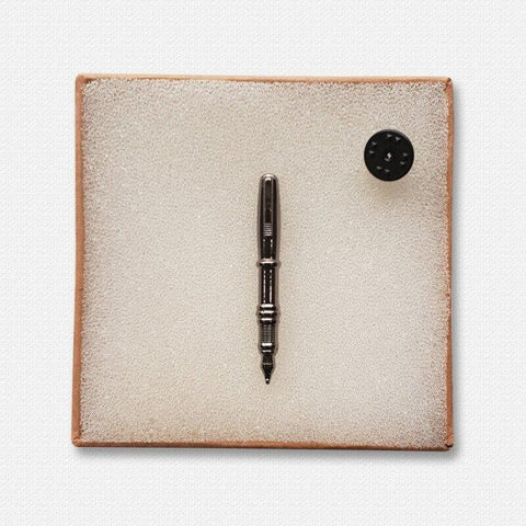 Silver Pen Lapel Pin