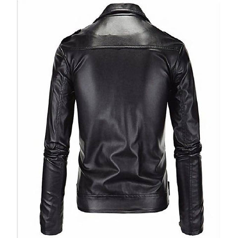 Men's Slim Fit Pu Leather Jacket MB-94