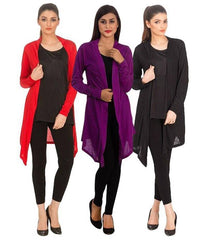 Women's Pack Of 3 Cotton Jersey Shrugs. NS-P3S1