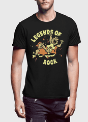 Virgin Teez LEGENDS OF ROCK Half Sleeves T-shirt