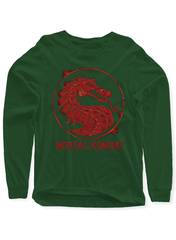 Virgin Teez Mortal Kombat Logo Full Sleeves T-shirt