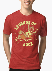 Virgin Teez LEGENDS OF ROCK Half Sleeves Melange T-shirt