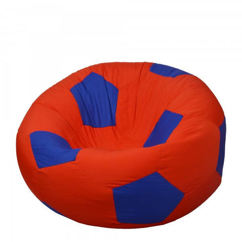 Relaxsit Kids Fabric Football Bean Bag Chair - Red & Blue