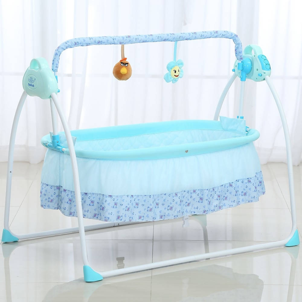 Electric Baby Bassinet Cradle, Rocking, Music Sleeping Basket Crib