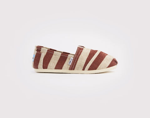 So Stripy Slip Ons