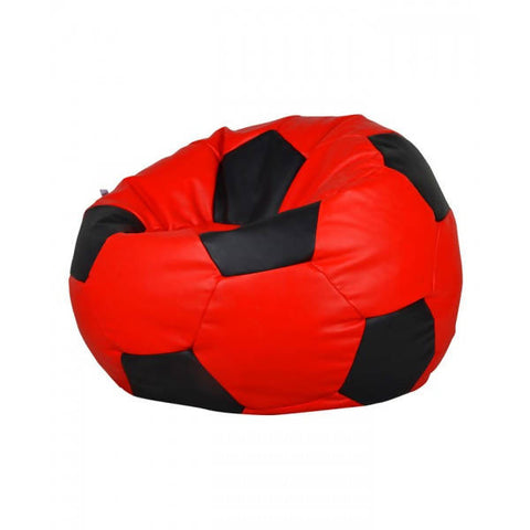 Relaxsit Kids Fabric Football Bean Bag - Red & Black