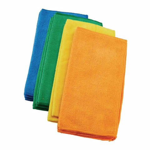 Pack of 4 - Microfiber Cleaning Clothes 12 x 12 Inch - Multicolour 2118-B