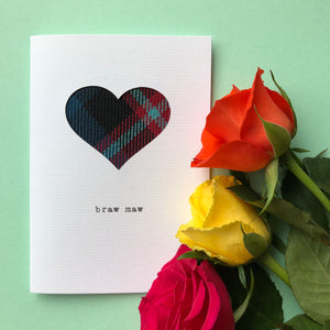 Cute Scottish tartan Mother's Day Card by Hiya Pal