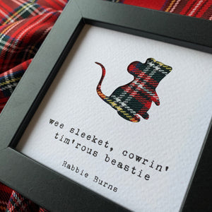 Rabbie Burns Quote Framed