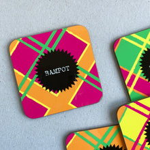 Load image into Gallery viewer, Bampot Neon Tartan Coaster