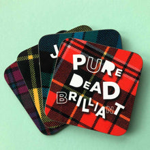 Load image into Gallery viewer, Set of 4 Tartan Banter Coasters