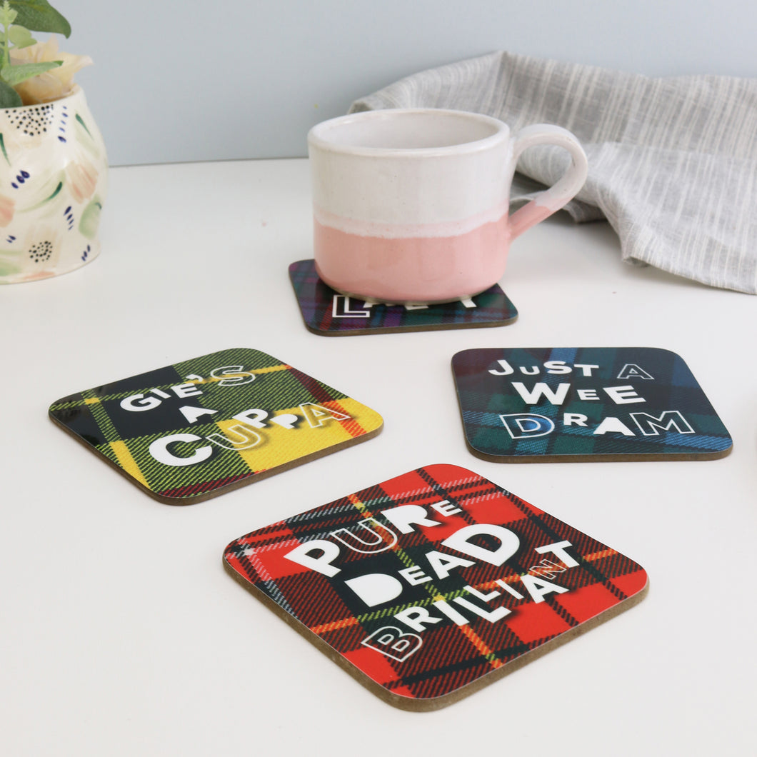 Set of 4 Tartan Banter Coasters
