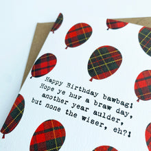 Load image into Gallery viewer, Happy Birthday Bawbag Patter Card