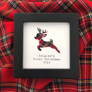 Baby's First Christmas Tartan Keepsake Frame