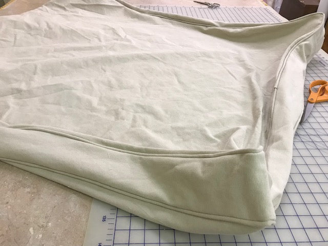 Extra Large Dog Bed Slipcover in Washed Bull Denim or Cotton Canvas
