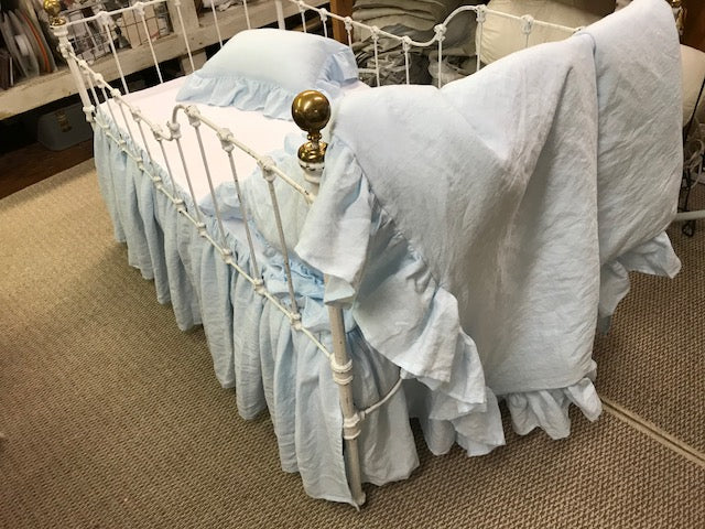 Baby Linens-Romantic Nursery Set in Washed Linen