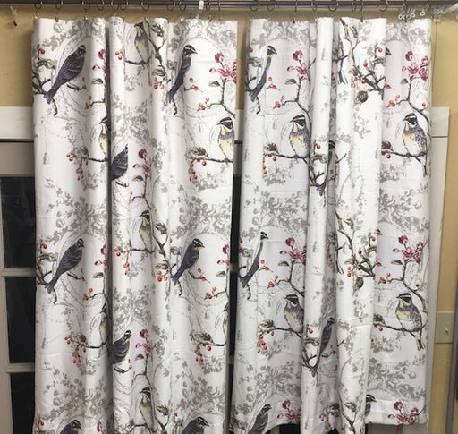 Sewing Service-One Pair of Curtain Panels in Client's Fabric-Drapery Lining Provided