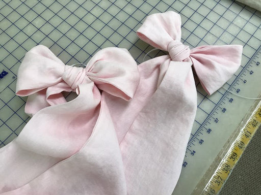 Washed Linen Crib Bedding  Bow Separates-Three Large Crib Sashes for Decorating your Crib