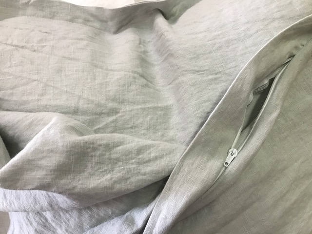 Tailored Euro Sham in Washed Linen-Color and Number Per Your Request-Tailored Euro Sham Shown in Bright White Washed Linen