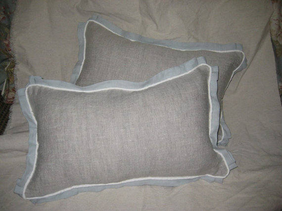 Tailored Crib Pillow - 12x16 - Removable Poly Pillow Insert Available-One Crib Pillow with Covered Cording and Pleated Flange Detail