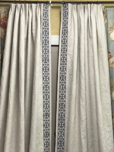 Traditional Home Decor Drapery Panels----Home Decor Seamstress---Sewing Fee Only---Client's Fabric and Trim----Seamstress for Hire