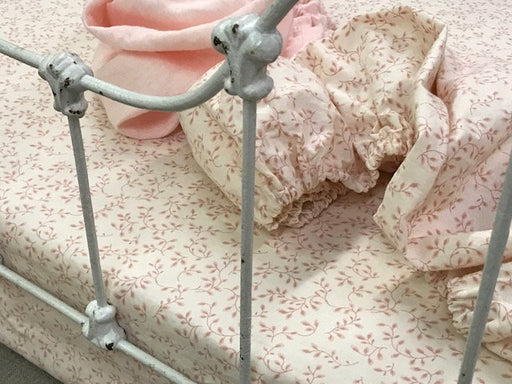 READY NOW-Pink Floral Crib Sheet-Matching Changing Pad Covers Set-Nursery Gift-Baby Gift Idea-Baby Shower-Baby Necessities-Fitted Crib Sheet