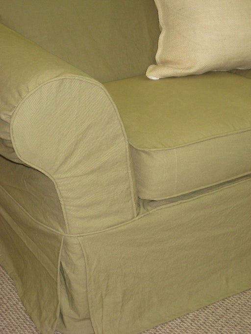 Slipcovers Sewing Service-Slips for your Small Sofa-Fitted Slipcovers for your Love Seat-Two Cushion Small Sofa Slips-Local Slipcover Shop
