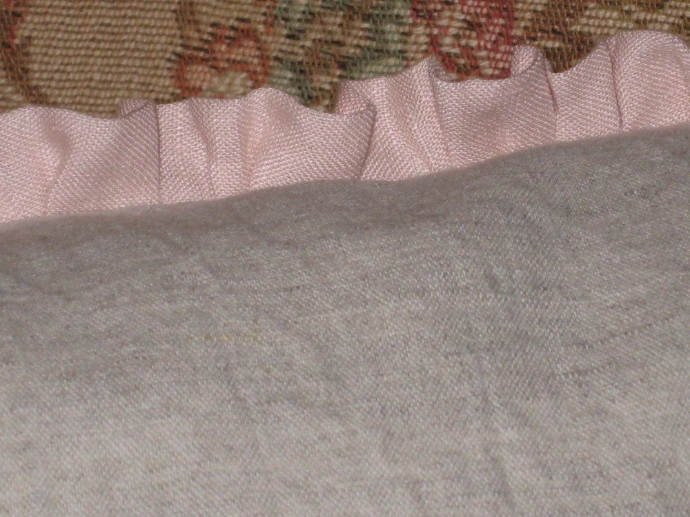 Ruffled 12x24 Linen Pillowslip and Removable Pillow Insert---Poly Insert or Feather/Down Insert Option