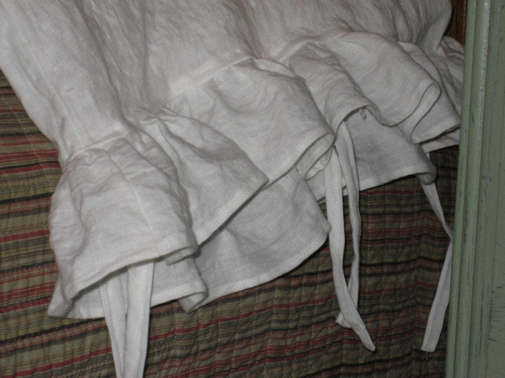 Washed Linen Ruffled Pillowcase Shams-One Pair-Standard-Queen-King Size Shams