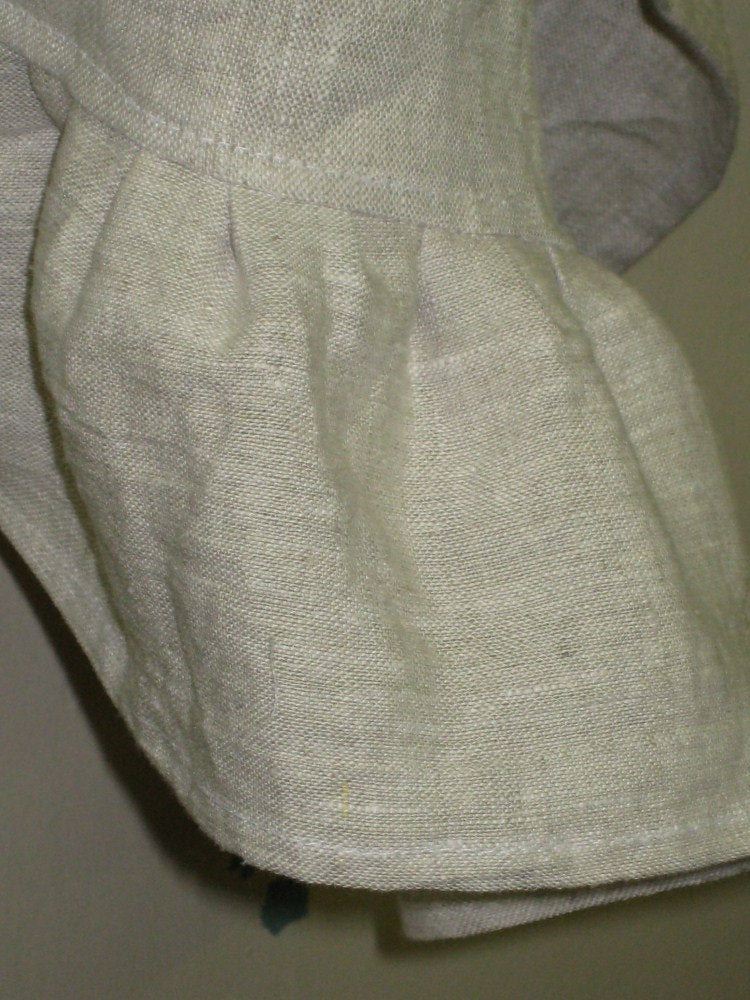 Basic Ruffled Hand Towel----Washed Linen Ruffled Tea Towel-Neutral Solid Washed Linen Colors