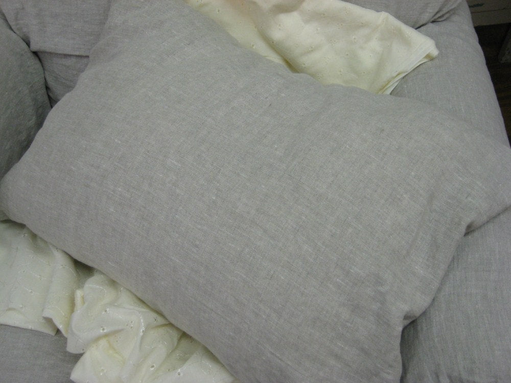 Single Washed Linen Simple Pillow Sham----Your Linen Color and Size Request---One Simple Pillow Sham