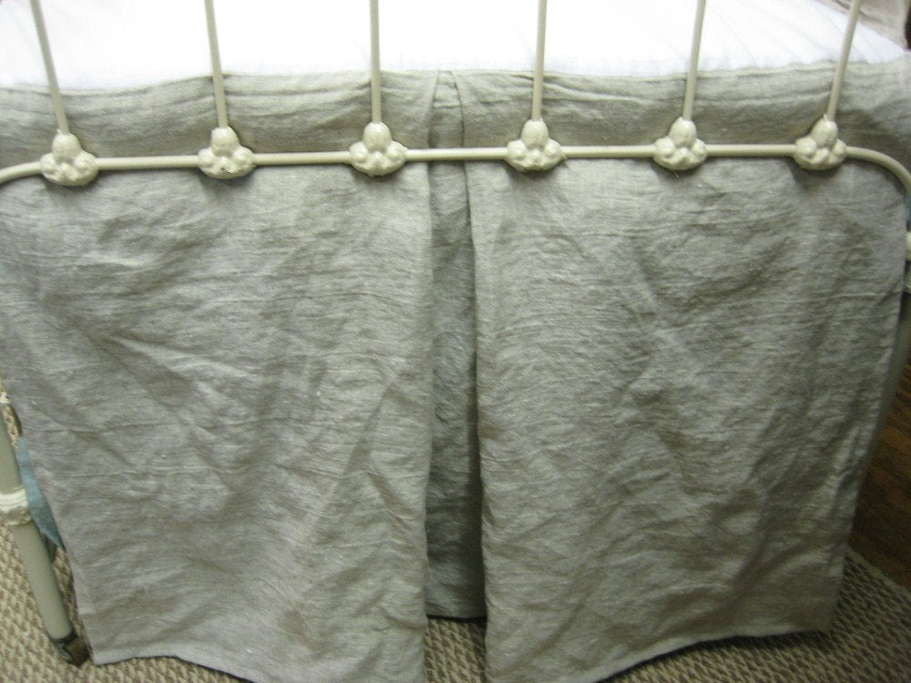 Tailored Crib Skirt in Washed Linen-Your Linen Color Choice