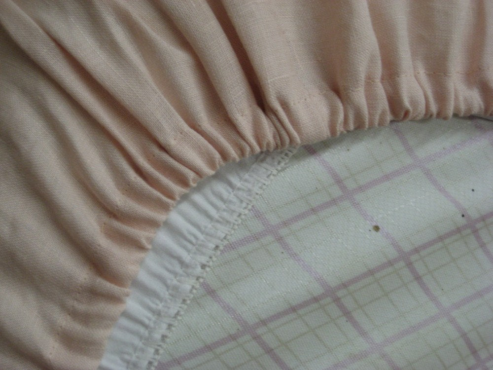 Crib Sheet-Washed Linen Fitted Crib Sheet-Handmade in USA-Custom Home Decor Sewing-American Made Nursery Linens