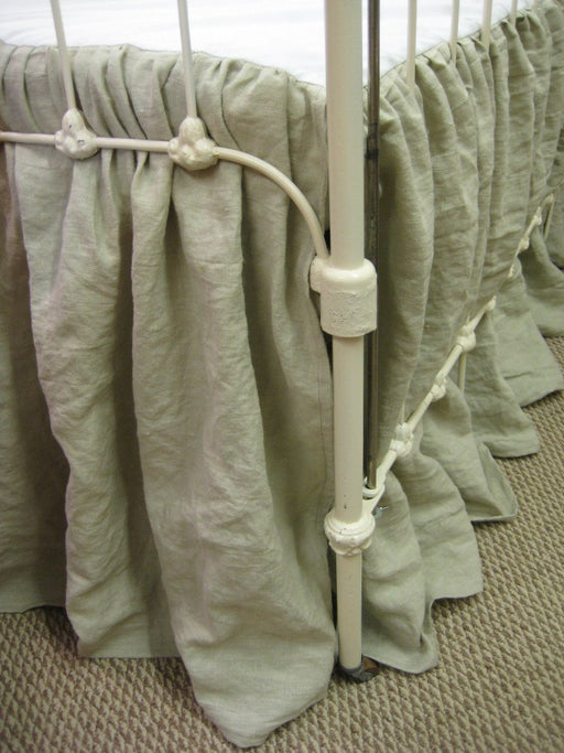 Washed Linen Storybook Style Crib Skirt and Fitted Crib Sheet