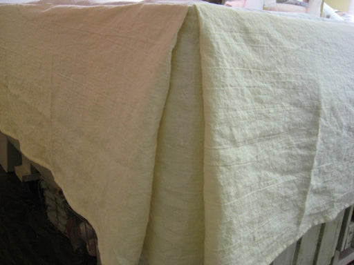 King Tailored Bed Skirt in Washed  Heavy Linen