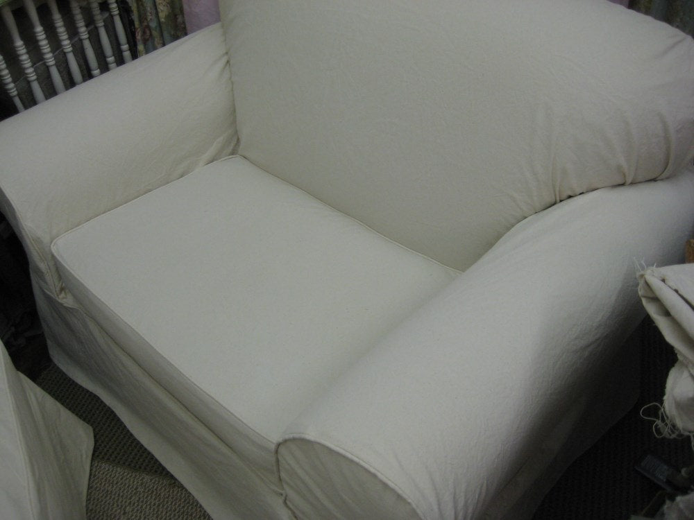 Slipcovers for Your Chair and Ottoman--Sofa Slipcover--Wingback Slipcover--Cotton Duck or Linen Slipcovers-LOCAL CLIENTS ONLY