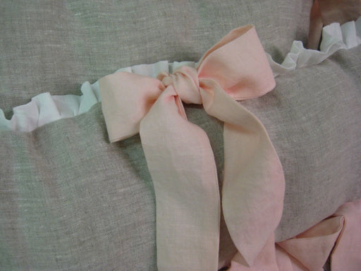 Ruffled Mini Crib Bumpers with Sash Ties-Zip Closures-Removable Mini Crib Bumper Pad Inserts-Portable Crib Bumpers