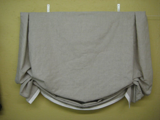 Functional Relaxed Shade---Board Mounted Window Treatment-Window Shade with Hardware in Your Requested Linen Color