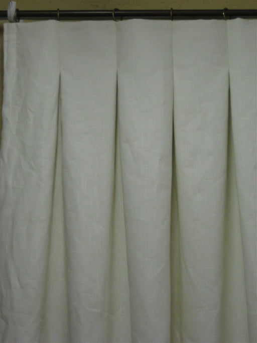Tailored Linen Drapery - Cream Linen - Blackout Interlining - Ivory Drapery Lining Finish