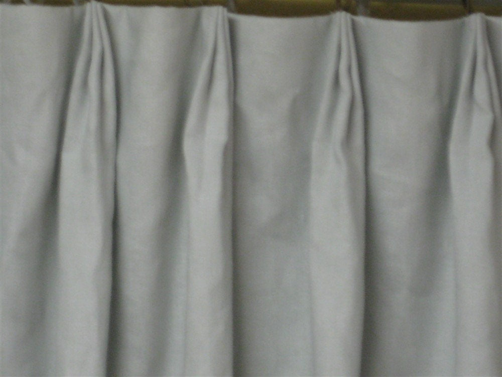 Pleated Drapery Panels-Extra Wide Linen Panels-Dove Grey Linen with Ivory Drapery Lining-Euro Pleat Detail-1.5 Width Panels-One Pair