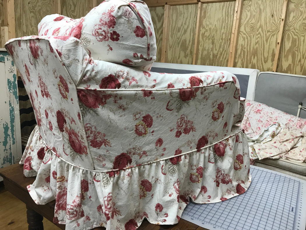 Sewing Service-Custom Chair Slipcover for Local Clients