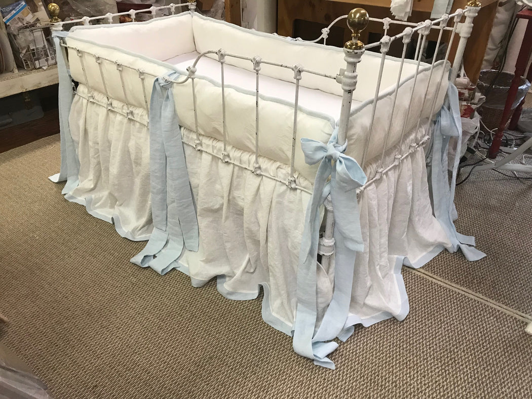 Tailored Baby Bedding-Baby Boy Nursery Linens-Handmade Nursery