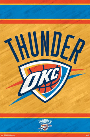Oklahoma City Thunder - Logo Wall Poster